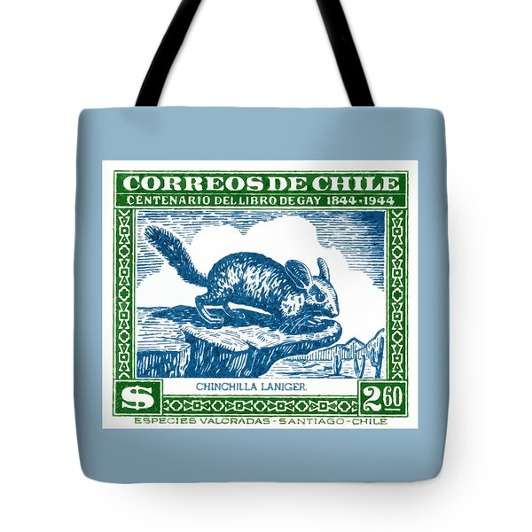 1948 Chile Long Tailed Chinchilla Postage Stamp Tote Bag