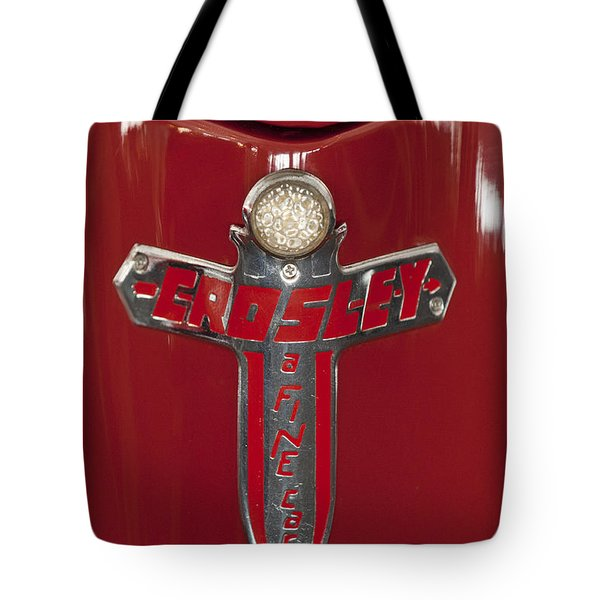1948 Crosley Convertible Emblem Tote Bag by Jill Reger