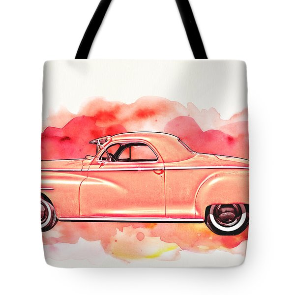 1948 Dodge Coupe As Seen In Luckenbach Texas By Vivachas Tote Bag