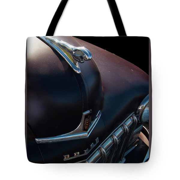 Tote Bag featuring the photograph 1948 Dodge Ram Hood Ornament by Chris Flees