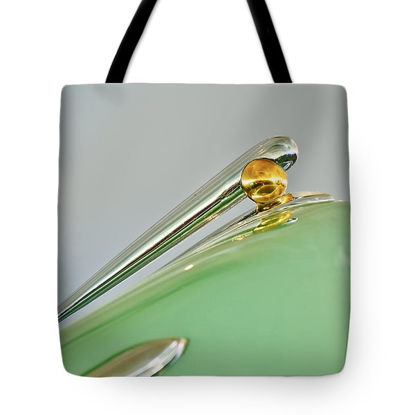 1948 Lincoln Continental Hood Ornament 4 Tote Bag by Jill Reger