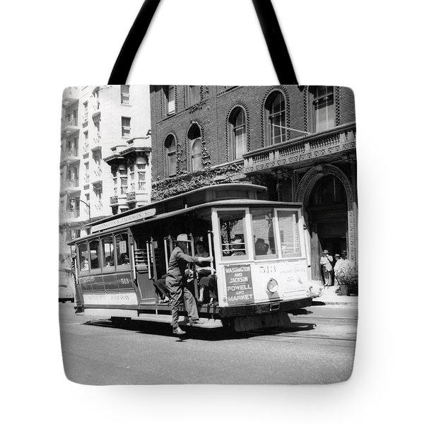 1948 San Francisco Cable Car 513 Tote Bag