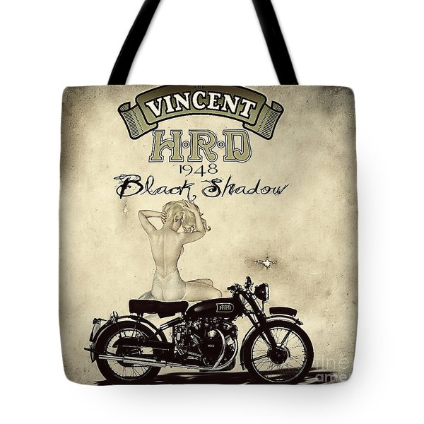1948 Vincent Black Shadow Tote Bag by Cinema Photography