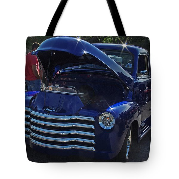 1949 Chevy Blue Pickup Tote Bag