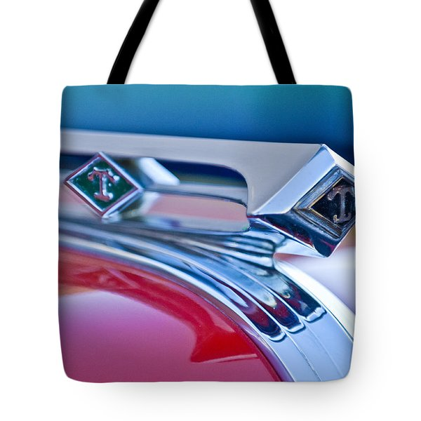 1949 Diamond T Truck Hood Ornament 3 Tote Bag