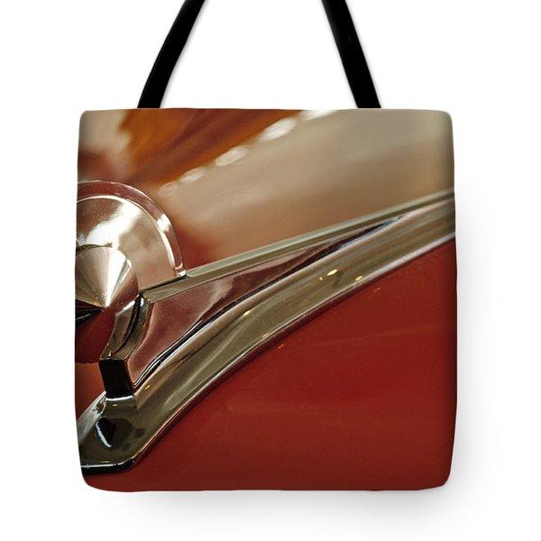1949 Ford Custom Hood Ornament Tote Bag by Jill Reger