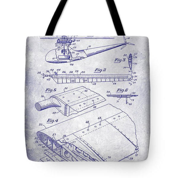 1949 Helicopter Patent Blueprint Tote Bag