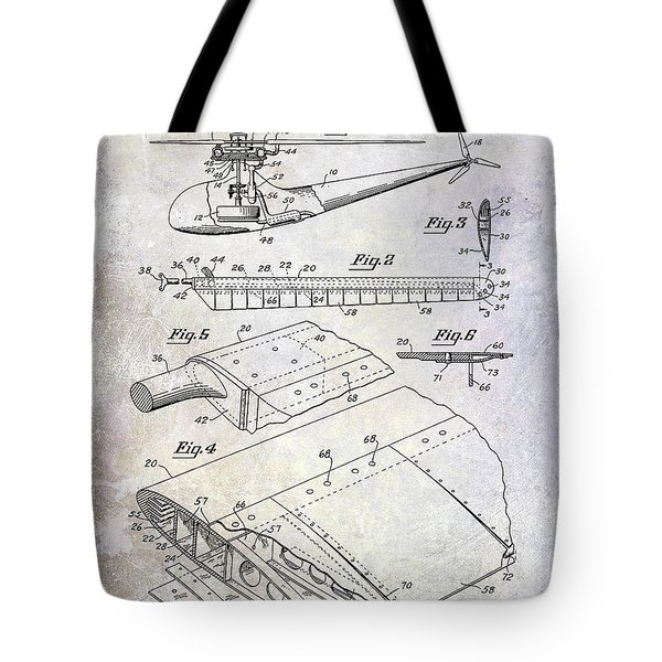 1949 Helicopter Patent Tote Bag