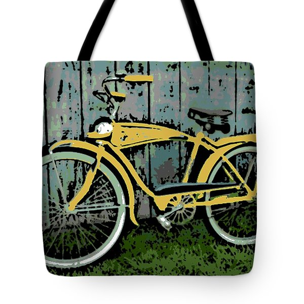 1949 Shelby Donald Duck Bike Tote Bag