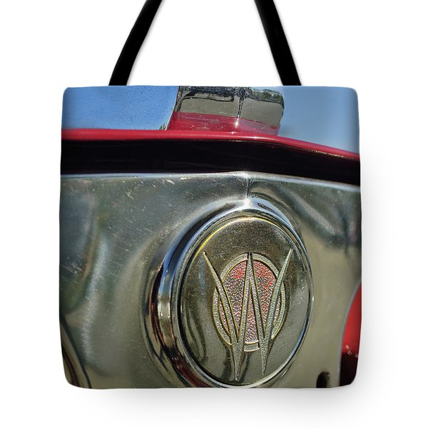 1949 Willys Jeepster Hood Ornament Tote Bag by Jill Reger