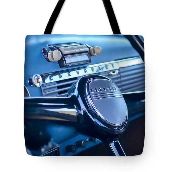 1950 Chevrolet 3100 Pickup Truck Steering Wheel Tote Bag