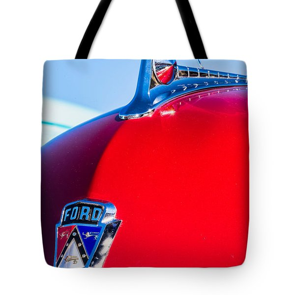 Tote Bag featuring the photograph 1950 Ford Hood Ornament by Aloha Art