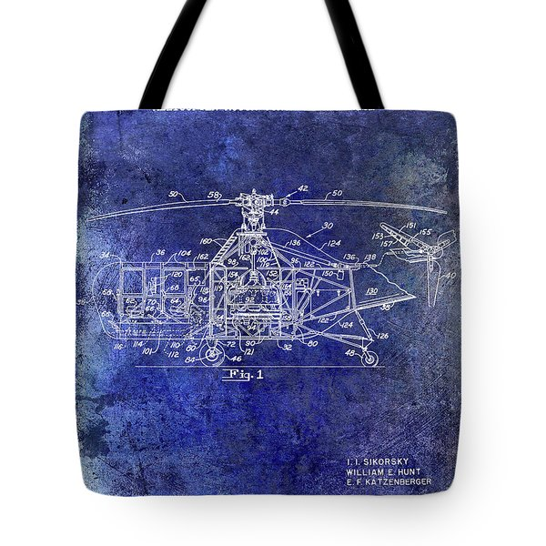 1950 Helicopter Patent Tote Bag by Jon Neidert