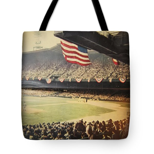 1950 Phillies Vs Yankees World Series Guide Tote Bag by Bill Cannon