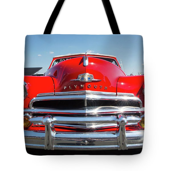 1950 Plymouth Automobile Tote Bag