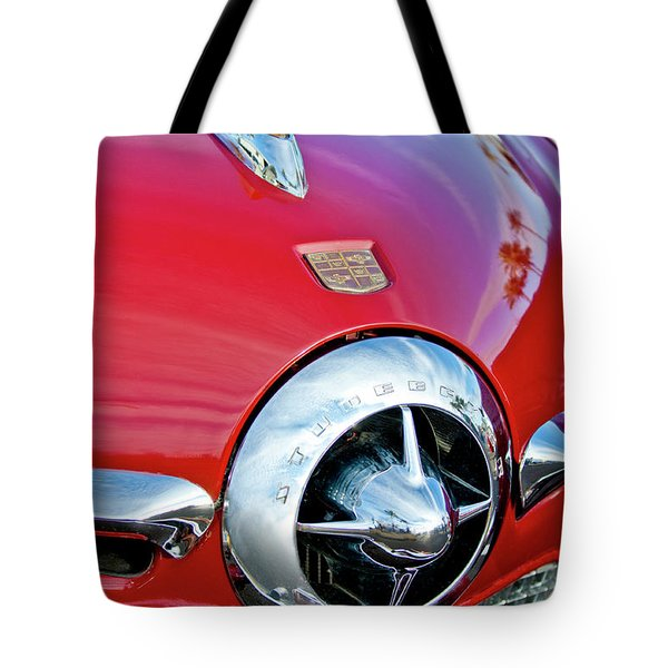 1950 Studebaker Champion Hood Ornament Tote Bag by Jill Reger
