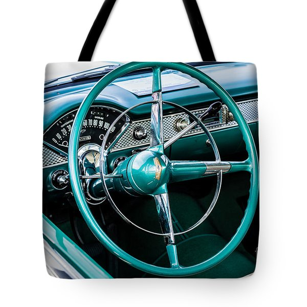Tote Bag featuring the photograph 1955 Chevrolet Bel Air by M G Whittingham
