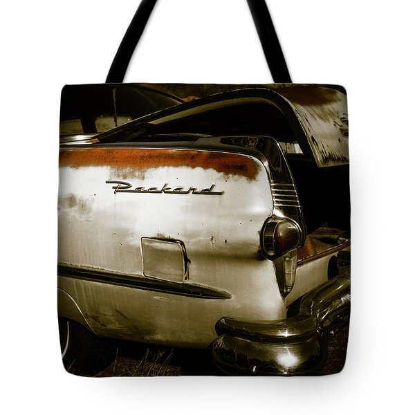 Tote Bag featuring the photograph 1950s Packard Trunk by Marilyn Hunt