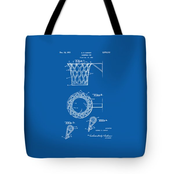 1951 Basketball Net Patent Artwork - Blueprint Tote Bag
