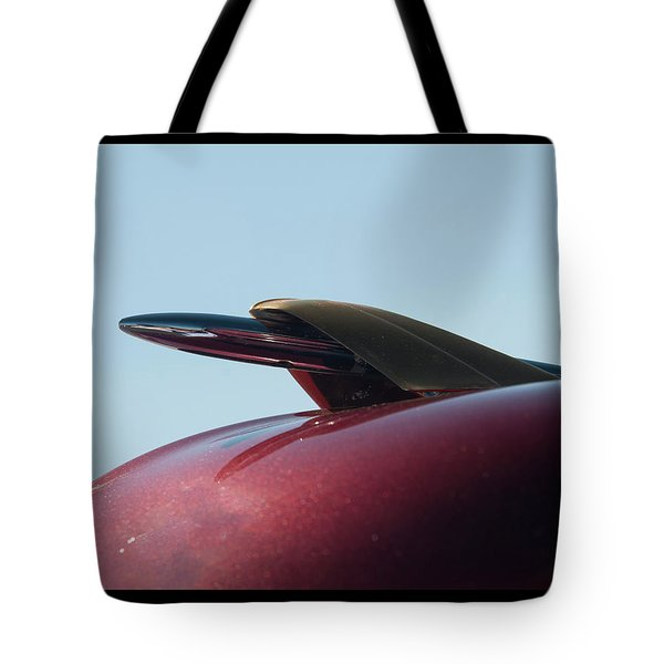 Tote Bag featuring the photograph 1951 Mercury Hood Ornament by Chris Flees