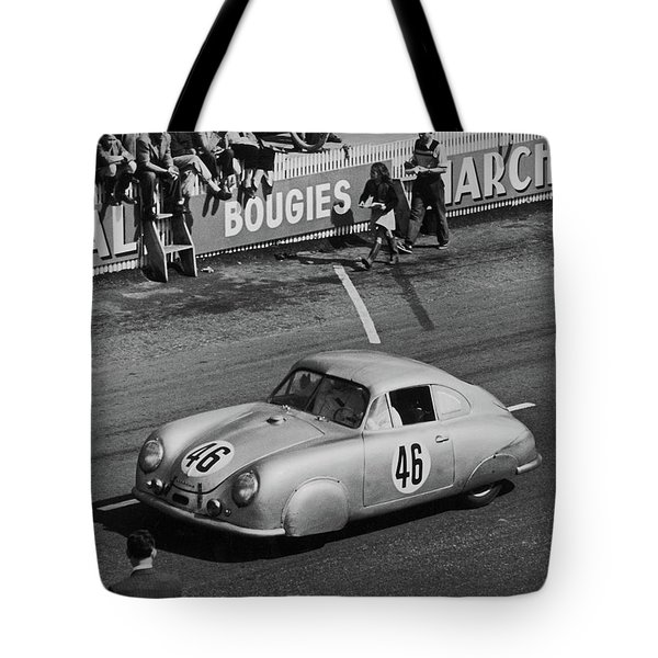 1951 Porsche Winning At Le Mans  Tote Bag