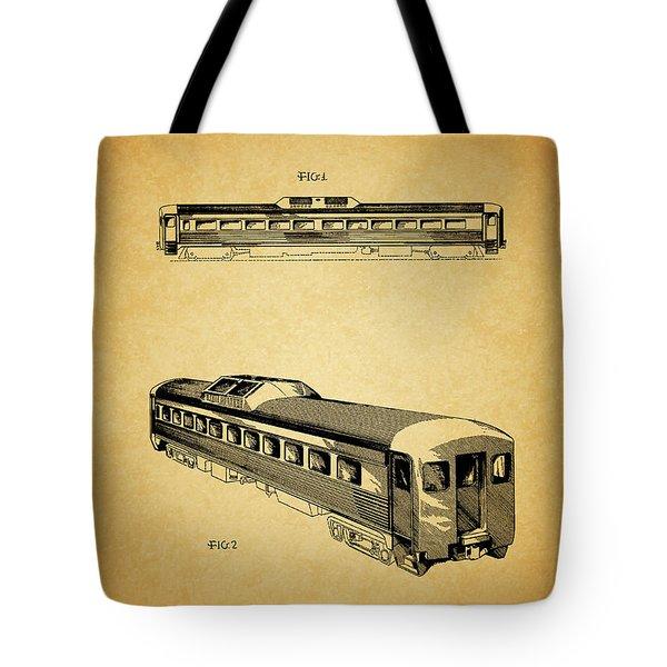 1951 Railway Car Patent Tote Bag by Dan Sproul