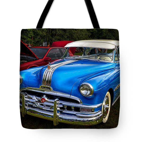 1952 Blue Pontiac Catalina Chiefton Classic Car Tote Bag