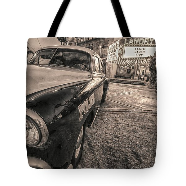 1952 Chevy Black And White Tote Bag
