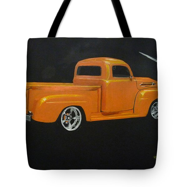 Tote Bag featuring the painting 1952 Ford Pickup Custom by Richard Le Page