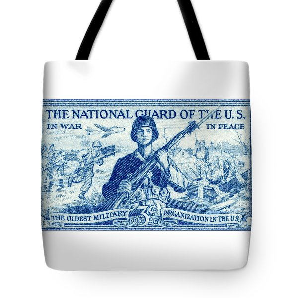 1952 National Guard Stamp Tote Bag by Historic Image