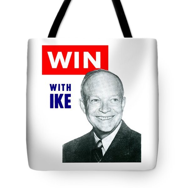 1952 Win With Ike Tote Bag