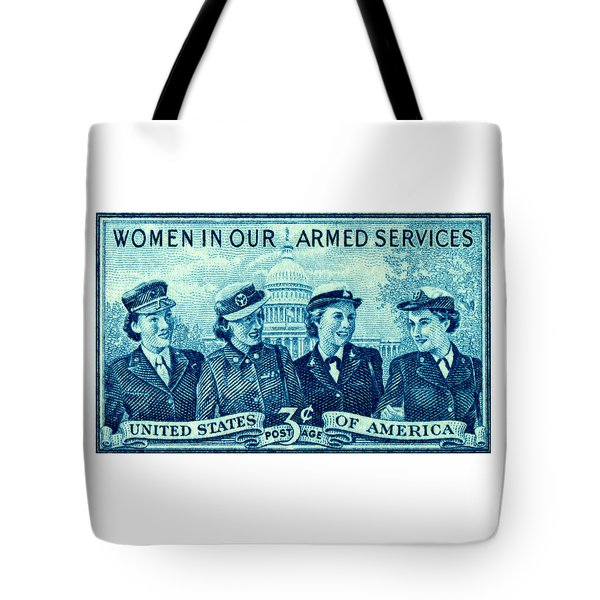 1952 Women In Military Service Stamp Tote Bag