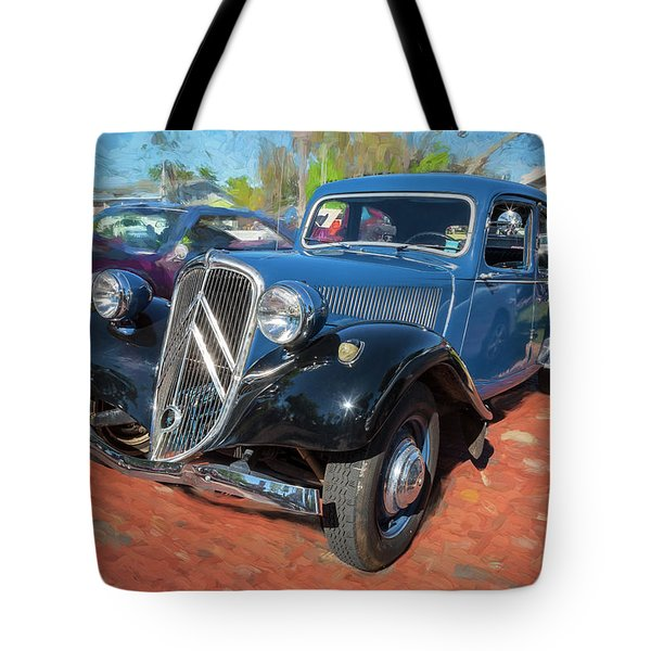 Tote Bag featuring the photograph 1953 Citroen Traction Avant by Rich Franco
