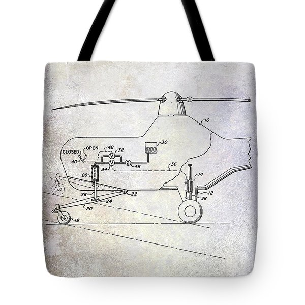 1953 Helicopter Patent Tote Bag