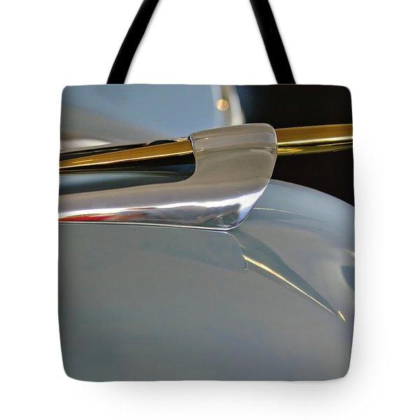 1953 Lincoln Capri Hood Ornament 2 Tote Bag by Jill Reger