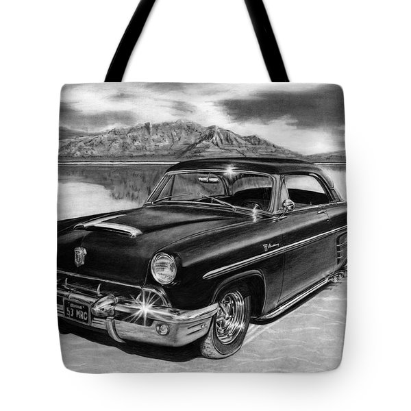 1953 Mercury Monterey On Bonneville Tote Bag by Peter Piatt