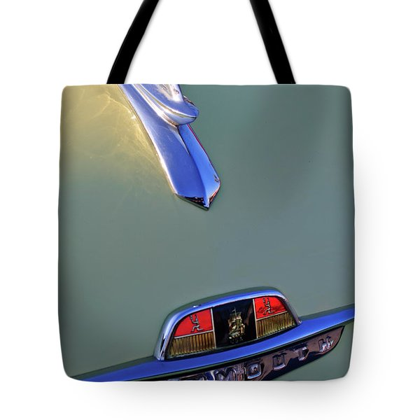 1953 Plymouth Hood Ornament Tote Bag by Jill Reger