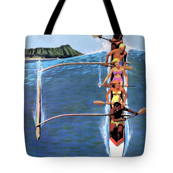 1953 United Airlines Hawaii Travel Poster Tote Bag