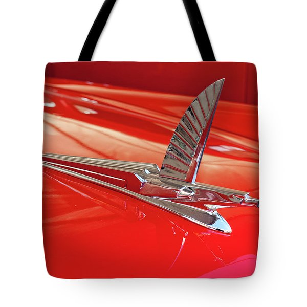1954 Ford Cresline Sunliner Hood Ornament 2 Tote Bag by Jill Reger