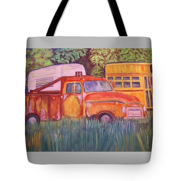 1954 Gmc Wrecker Truck Tote Bag by Belinda Lawson