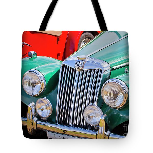 Tote Bag featuring the photograph 1954 Mg Tf Sports Car by Chris Dutton
