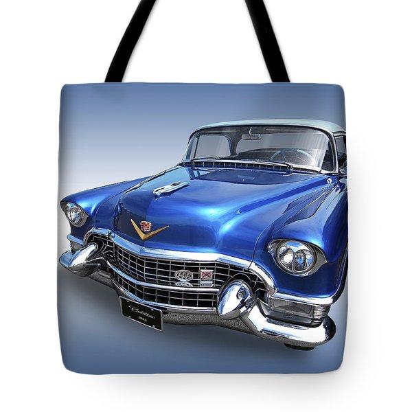 1955 Cadillac Blue Tote Bag by Gill Billington