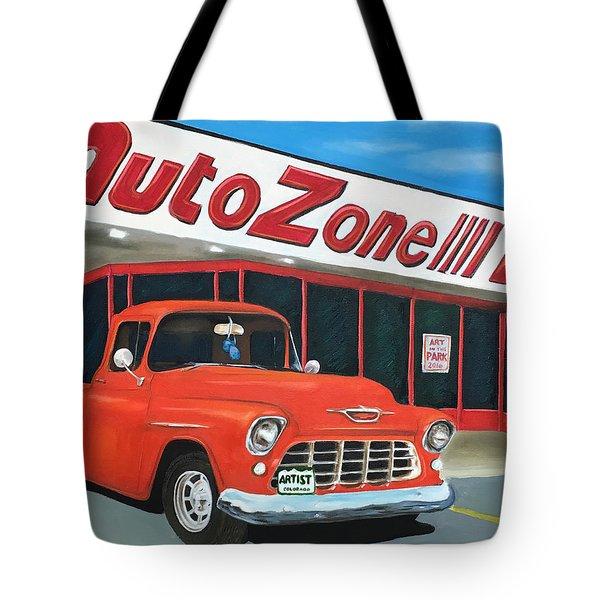 1955 Chevy - Autozone Tote Bag