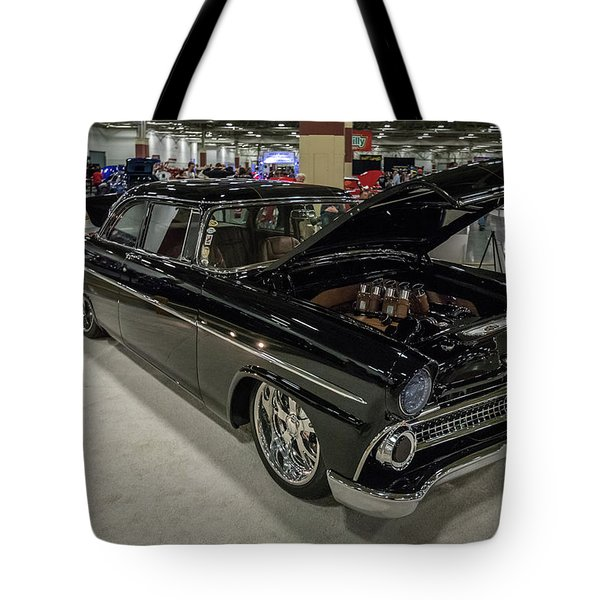 Tote Bag featuring the photograph 1955 Ford Customline by Randy Scherkenbach