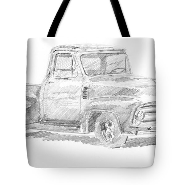 1955 Ford Pickup Sketch Tote Bag
