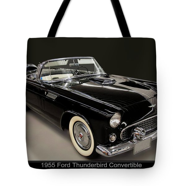 1955 Ford Thunderbird Convertible Tote Bag