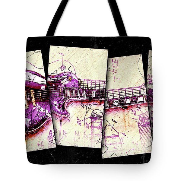 1955 Les Paul Custom Black Beauty V3 Tote Bag by Gary Bodnar