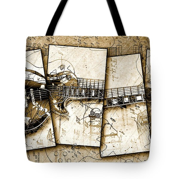 1955 Les Paul Custom Black Beauty V5 Tote Bag by Gary Bodnar
