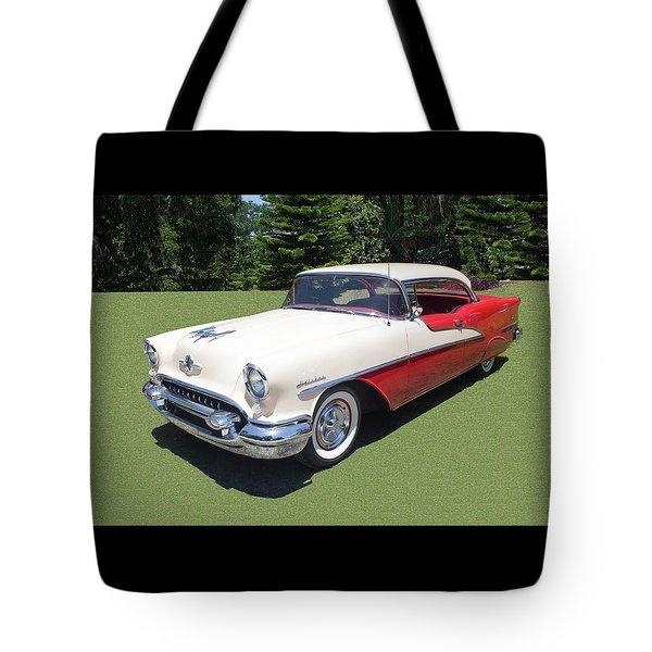 1955 Oldsmobile Super 88 Holiday Tote Bag
