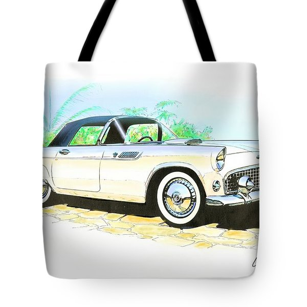 1955 Thunderbird Painting Tote Bag